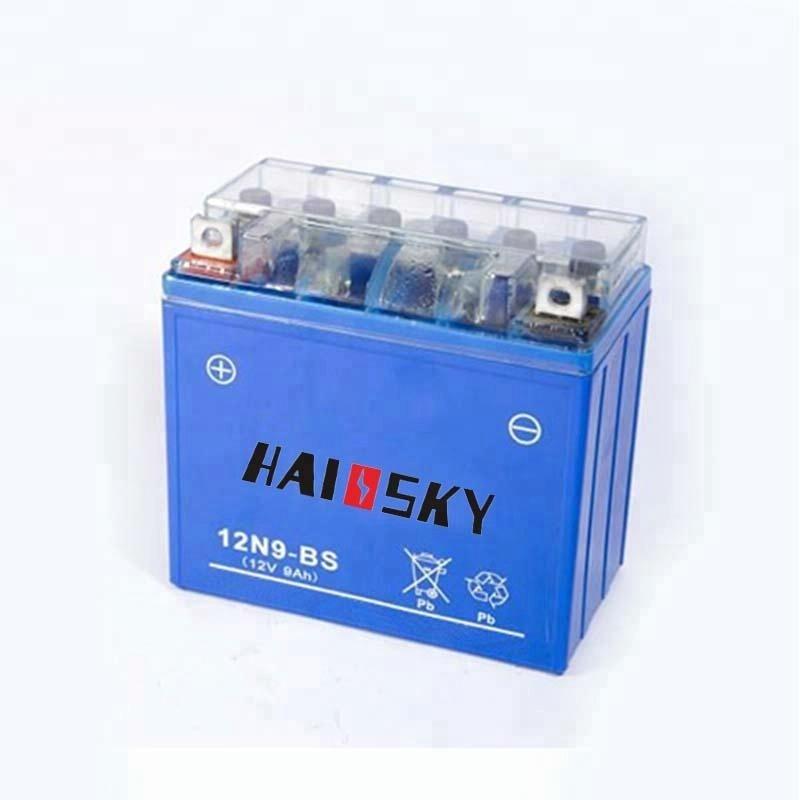 12N9-BS 12v 9ah lead acid motorcycle battery